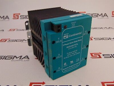 Continental RVD3/6V75T/L Solid State Relay 3-Phase, 4-32 VDC Control