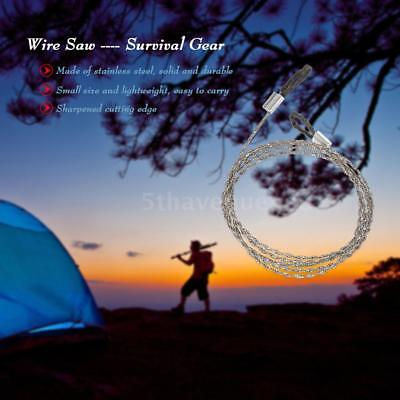Hiking Camping Stainless Steel Wire Saw Exigent Travel Survival Gear Hot I5M8