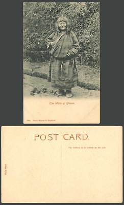 TIBET China India Old Postcard WITCH of GHOOM Tibetan Woman Costumes, Darjeeling