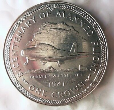 1983 ISLE OF MAN CROWN - AU/UNC - Very Low Mintage Coin - Lot #613