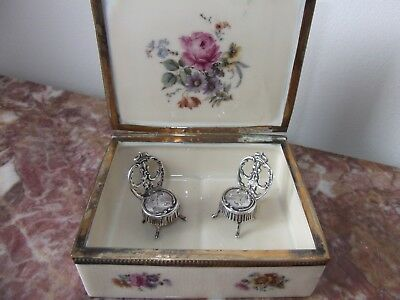 Antique Silver Victorian Royal Chairs 1899 London John George Smith