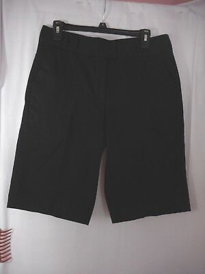 Chico's Women's Casual Solid Black 4 Pocket Bermuda Shorts Size 1.5