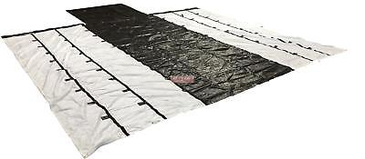 Airbag / Parachute Fabric Ultra Light Lumber Tarp 24x27 (8' Drop) - Black & Whit
