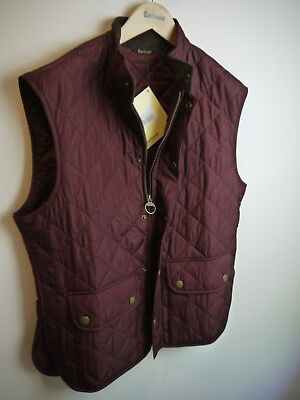 Barbour Mens Lowerdale Vest, Purple, New With Tags, Large