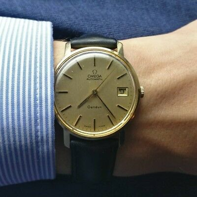 seltene Omega Automatic Geneve Ref. 1667071 in 585/ 14 Karat Gold  Cal. 1012