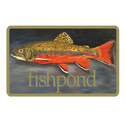 "Fishpond Brookie 5"" Decorative Bumper Fly Fishing Sticker"