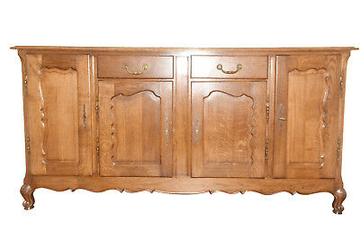Solid Oak Antique French Country Server, Sideboard or Buffet, Oak 1920-40's