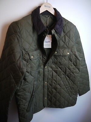 Barbour Mens Tinford Quilted Jacket, New With Tags, Olive Green, Large