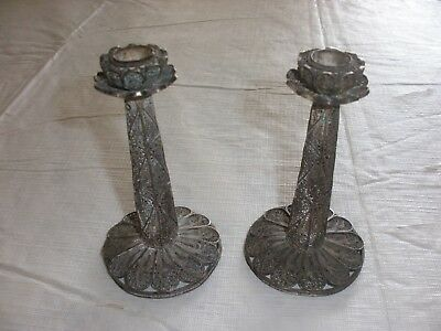 .925 Silver Ornate Sterling Candlestick Candle Holders