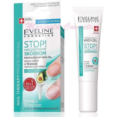 Eveline Instant CUTICLE REMOVER Gel Cream with Avocado Oil Nails Hybrid Manicure