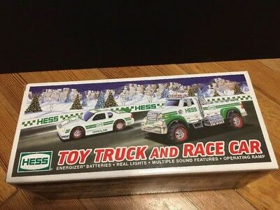 2011 Edition HESS Toy Truck and Race Car NEW IN BOX