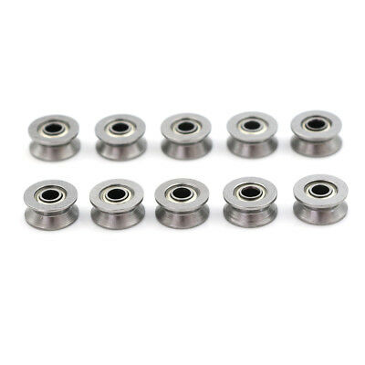 10pcs HCS Deep V Groove Sealed Guide Line Track Pulley Ball Bearing 3*12*4mm SP