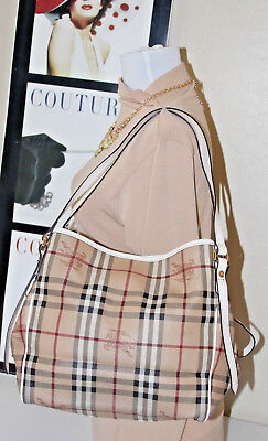 e5c54c90726 NWOT BURBERRY HAYMARKET Small Canterbury Tote, Factory Wrapped, MSRP ...