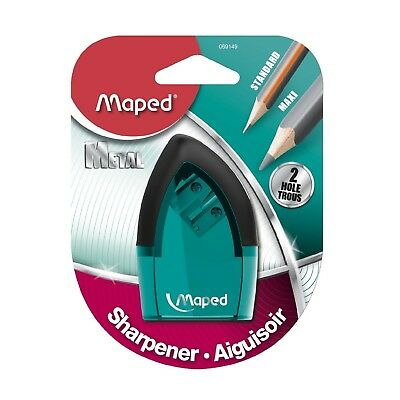 Maped Tonic 2Hole Pencil Sharpener With Metal Insert Assorted Color Easy To Grip