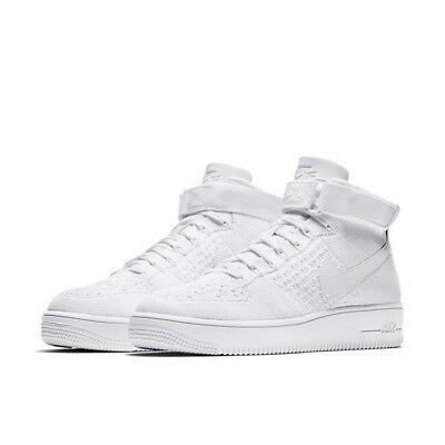 1a08650425516 Nike Air Force 1 AF1 Ultra Flyknit Mid Trainers Uk Size 10 817420 102 Mens