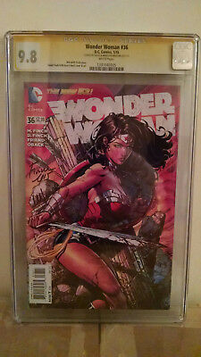 Wonder Woman #36 CGC 9.8 AUTOGRAPHED by DAVID & MEREDITH FINCH