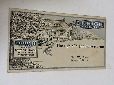Vintage Ink Blotter, Lehigh Cement, Remsen New York, Advertising
