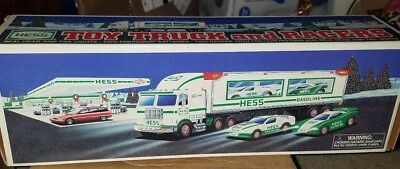 1997 Hess Collectible Toy Truck and Racers with Original Box