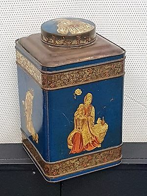 Large Shopkeepers Antique Tea Can
