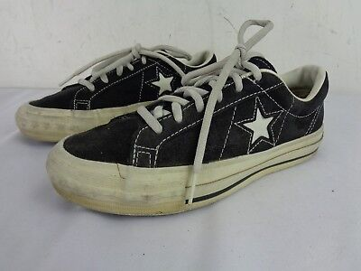 54898cf6d5c20c VINTAGE RARE MADE IN USA Converse One-Star Black Suede Leather Men Size 4