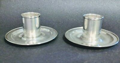 Pair of Tiffany Sterling Candleholders