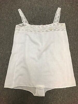 Antique Victorian Cotton and Lace Ladies Cami Knickers