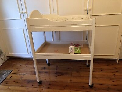 Best Baby change table in white timber w 2 Mats and cover! - pick up Sth Melb.