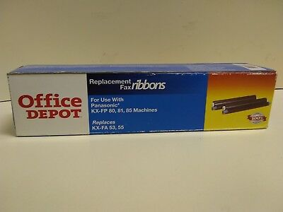 office depot replacement fax ribbons panasonic kx-fp 80,81,85