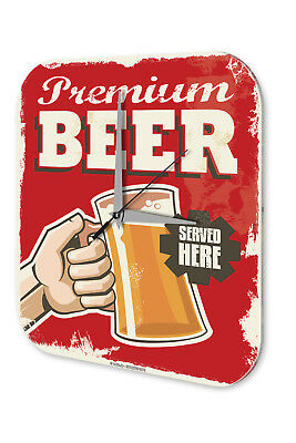 In Reloj De Pared Cerveza Decoración Retro Cerveza Premium Acrylglas Novel Design;