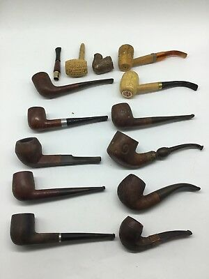 Lot of 11 ~ Vintage Tobacco Smoking Pipes from an Estate ~ Several Brands