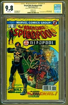 Despicable Deadpool #287 Lenticular Cover Variant Signed Jon Bernthal CGC 9.8