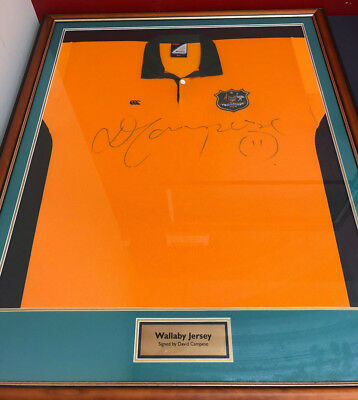 Wallabies Rugby Jersey Signed By David Campese