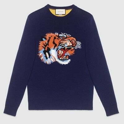 22b9abde3a8 100% AUTHENTIC GUCCI Wool Sweater With Tiger Intarsia  1100+Tax XXL ...