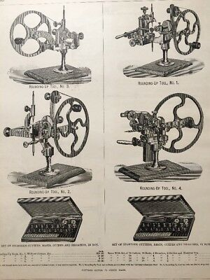 1884 Watchmaker Horology Rounding Up Tool Watch Gear Cutter Ad Print Page