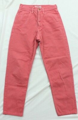 Vintage Guess Womens 28 High waisted colored mom jeans tapered pink Cut 23997