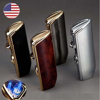 JOBON Torch Triple Jet Flame Butane Cigarette Torch Lighter with Cigar Punch...