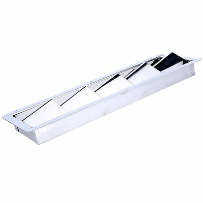 """Boat Louvered Vent Bilge Blower Exhaust, Off-Silver -5 Louver 12-3/4 X 4-3/8"""""""