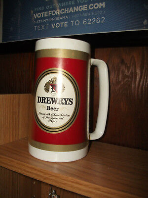 Vintage Drewry's Beer Plastic Mug  South Bend, Indiana, Brewery Nice Condition