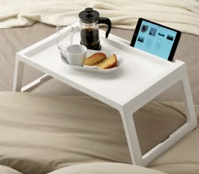 Folding Table tray use in bed food drinks tray laptop stand strong simple 懒人床用桌