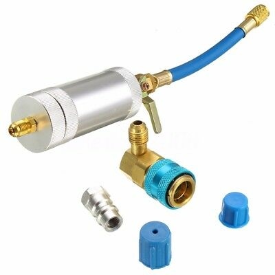 Car A/C Oil & Dye Injector+Low R12 or R134A Quick Coupler Adapter Kit