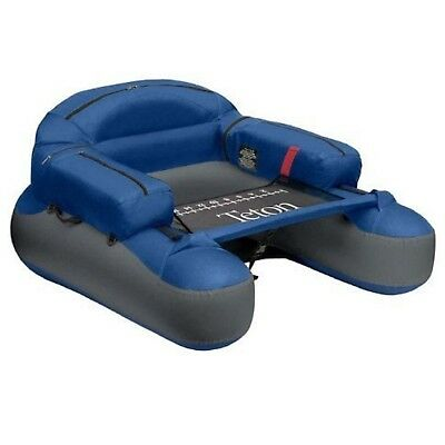 Inflatable Float Tube Lake Water Floating Chair Boat Storage Pocket Blue Fishing