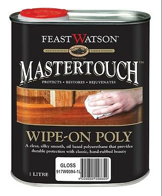 FEAST WATSON Mastertouch Wipe-On Poly Clear 1L GLOSS