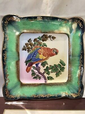 Antique Minton Cabinet Plate with Hand Painted Parrot