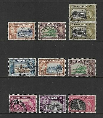 TRINIDAD & TOBAGO mixed collection, 1938 King George VI KGVI 1953 QEII, used