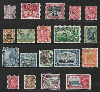 JAMAICA mixed collection No.5, 1889-1937, used