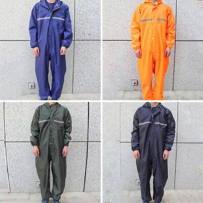 Black Motorcycle Rain Suit Raincoat Overalls Waterproof Men Fashion Work Outdoor