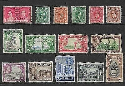 JAMAICA mixed collection No.4, King George VI KGVI, from 1938, mostly used