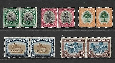 SOUTH AFRICA 1926 issue, bilingual pairs, mint MNH MUH & MH