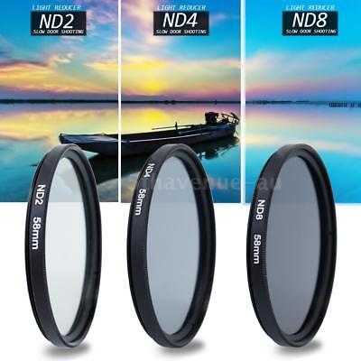 Professional 58mm ND2 ND4 ND8 Camera Filter & Lens Hood Kit for Canon Nikon SONY