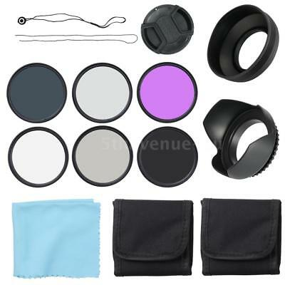 52MM Filter Kit UV CPL Protector FLD + ND2 ND4 ND8 Set for Nikon Canon SONY Lens